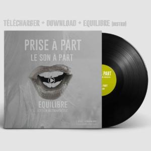 Equilibre pochette vinyl electro pop rnb